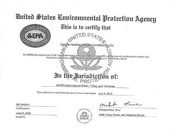 EPA-cetificate