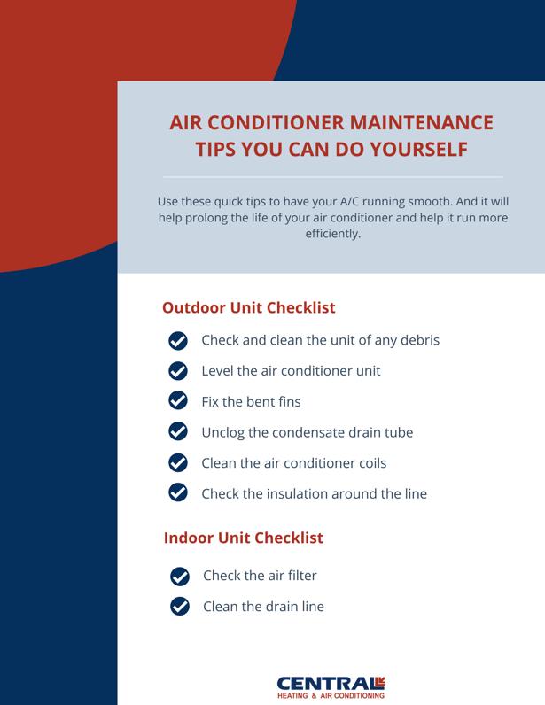 AC Maintenance Tips Checklist
